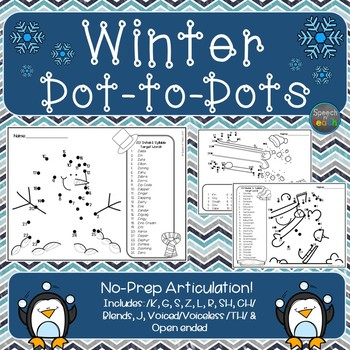 Articulation Dot-to-Dots: Winter Edition