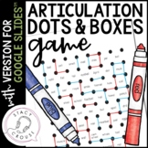 Articulation Dots and Boxes Game for Google Drive™ Teletherapy Activity