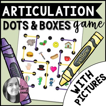 Speech Dots and Boxes Game with Pictures