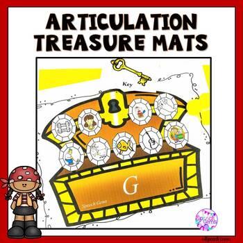 Articulation Dough Treasure Game Smash Mats