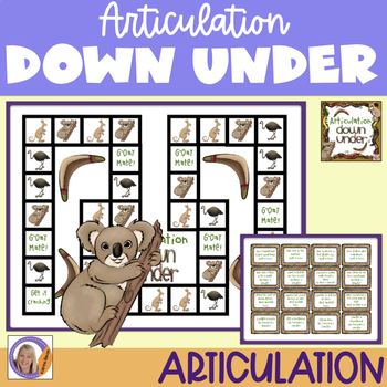 Articulation Game for speech and language therapy: Articulation Down Under