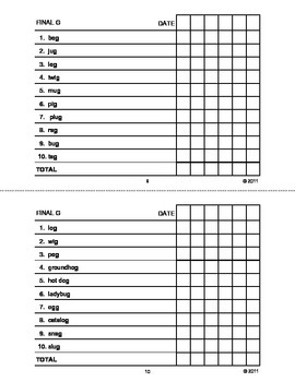 Articulation Drill Booklet- G Sound, Speech Therapy