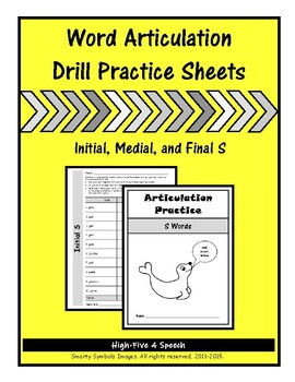 Articulation Drill Booklet- S Sound, Speech Therapy