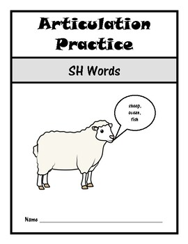 Articulation Drill Booklet- SH Sound, Speech Therapy