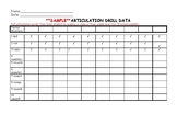 Articulation Drill Data Collection