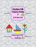 Articulation Drills Companion Activity 2