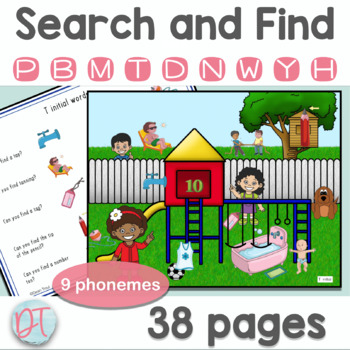 Articulation Activities: Search and Find Early Developing Sounds