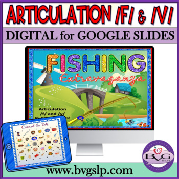 Articulation F and V in All Positions Fishing Extravaganza - Teletherapy