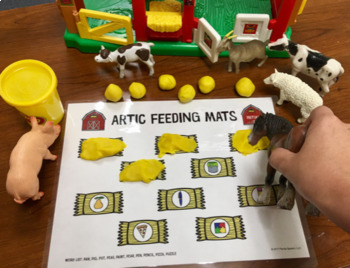 Articulation Feeding Mats for Farm Animals: Initial /f/ Toy Companion FREEBIE