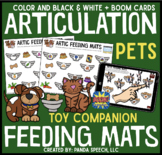 Articulation Feeding Mats for Pets: A Speech Therapy Toy Companion + Boom Cards