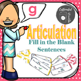 Articulation Fill in the Blank Sentences- G sound: Color and B&W
