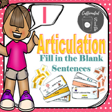 Articulation Fill in the Blank Sentences- L sound: Color and B&W