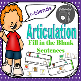 Articulation Fill in the Blank Sentences- R-Blends: Color and B&W