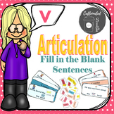 Articulation Fill in the Blank Sentences- V sound: Color and B&W