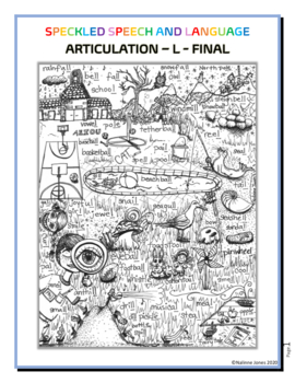 Articulation - Final L - Coloring Sheet - Phonology