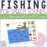 Articulation Fishing BOOM Cards™ for L & L Blends | Speech