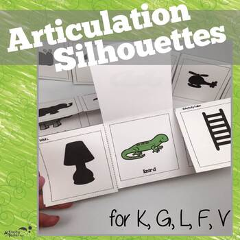 Articulation Flashcard Silhouettes for K, G, F, V and L