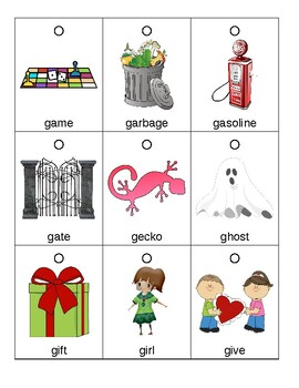 Articulation Flashcards/Flipbook: G