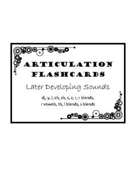 Articulation Flashcards (single word through conversation level)