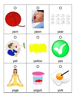 Articulation Flashcards/Flipbook: Y