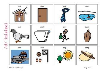 Articulation Flashcards for /D/ sound - Afrikaans