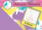 Articulation Flashcards for /G/ sound - Afrikaans