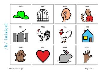 Articulation Flashcards for /H/ sound - Afrikaans
