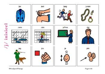 Articulation Flashcards for /J/ sound - Afrikaans