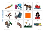 Articulation Flashcards for /R/ sound - Afrikaans