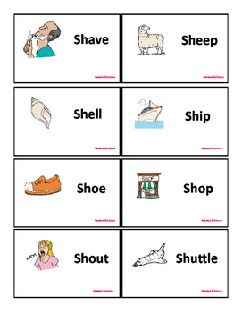 Articulation Flashcards for SH