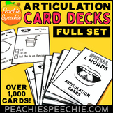 Articulation Flashcards with Visual Cues by Peachie Speechie - Entire Set