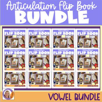 Articulation Flip Books- Vowel sounds bundle
