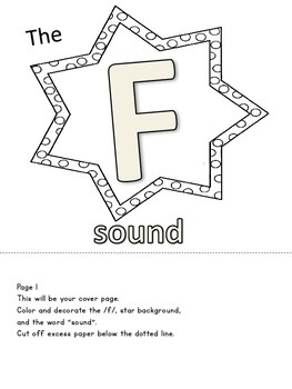 Flip Books for /F, V/ Speech Therapy