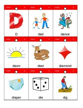 Articulation Flashcards/Flipbook: D