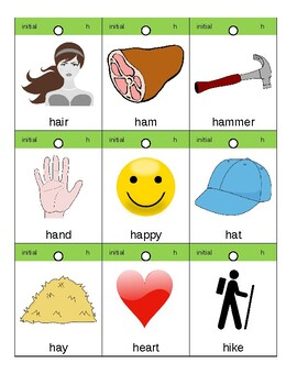 Articulation Flashcards/Flipbook: H
