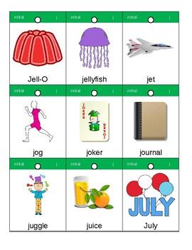 Articulation Flashcards/Flipbook: J