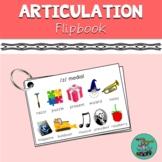 Articulation Flipbook: all consonant speech sounds, articu