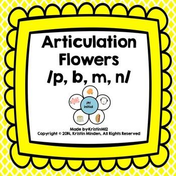 Articulation Flowers /P, B, M, N/