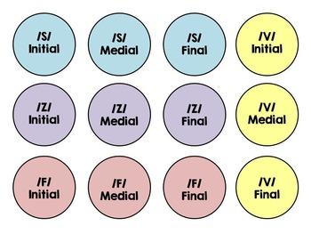 Articulation Flowers /S, Z, F, V/