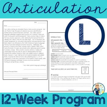Articulation Fluency Home Practice /l/