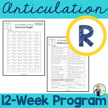Articulation Fluency Home Practice /r/