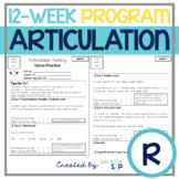 Articulation 12-Week Homework Practice R Speech Therapy