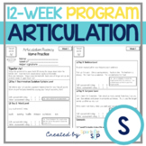Articulation 12-Week Homework Practice S Speech Therapy