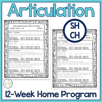 Articulation 12-Week Home Practice SH, CH