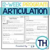 Articulation 12-Week Homework Practice TH Speech Therapy