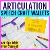 Articulation Foldable Wallet Craftivity BUNDLE