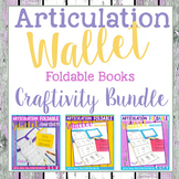 Articulation Foldable Wallet Craftivity BUNDLE