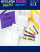 Articulation Foldable Wallet Craftivity- S, R, L, S-blends, R-blends & L-blends