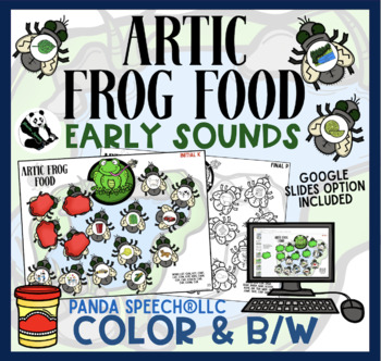 Articulation Frog Food: A Speech Therapy Activity: Early Sounds