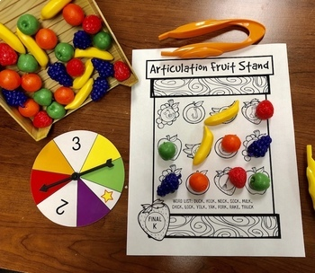 Articulation Fruit Stand: A Speech Therapy Game Companion